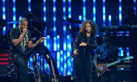 Erick with Alicia Keys and Jay-Z